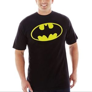 4XLB Batman Dc Comics Black Yellow Logo Shirt Top